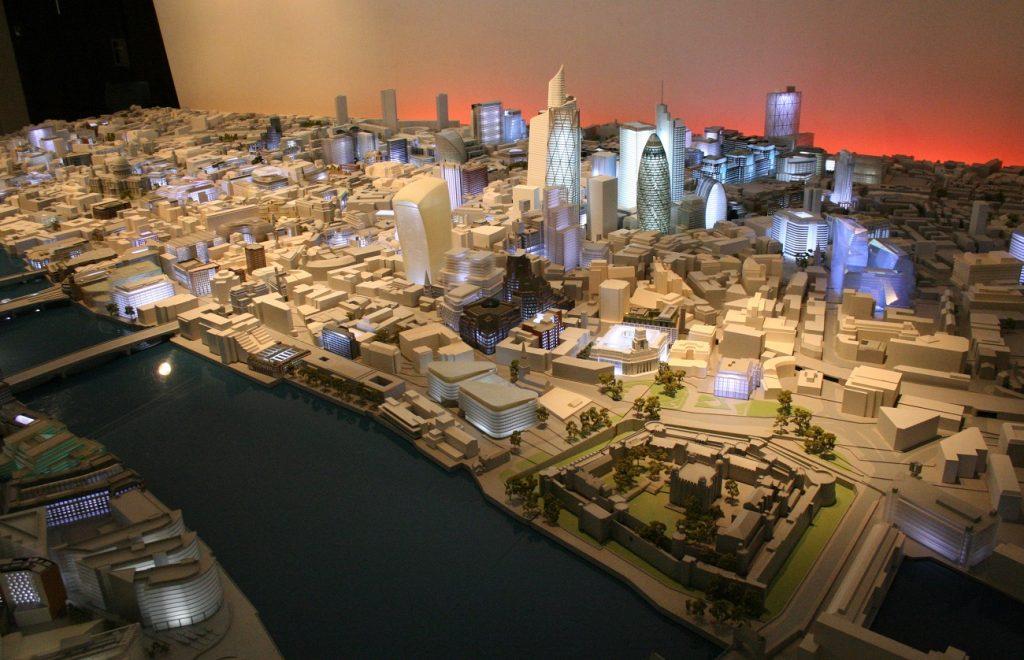 London miniature city model