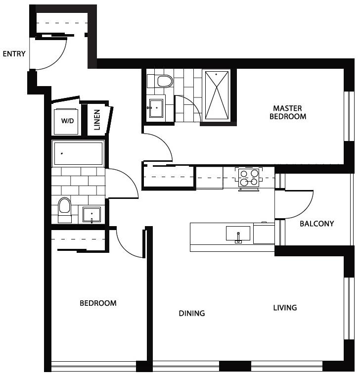 Midtown floorplan vancouver condos