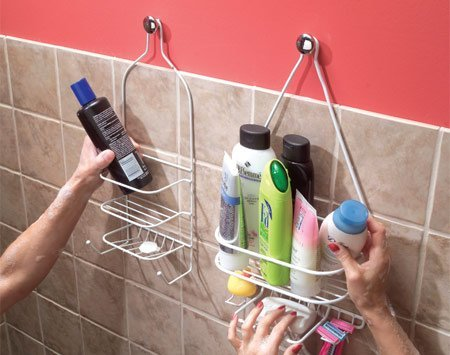 door knob shower caddy
