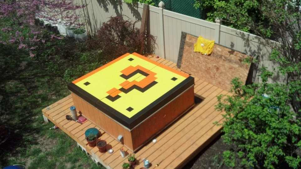 mario brothers hot tub cover
