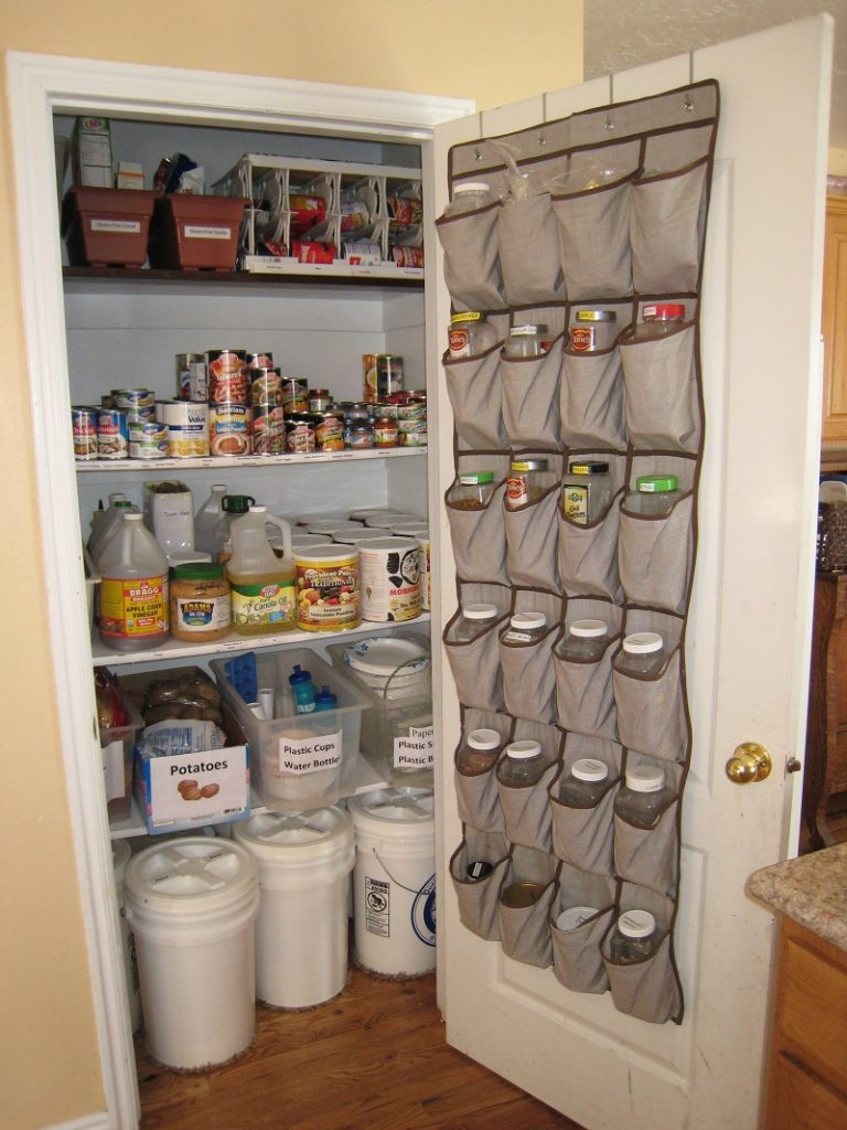 shoe organizer turned pantry organizer