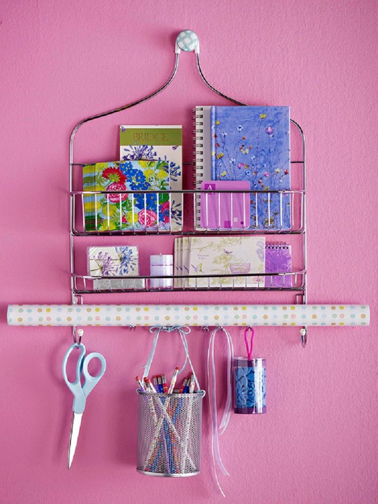 shower caddy crafts station