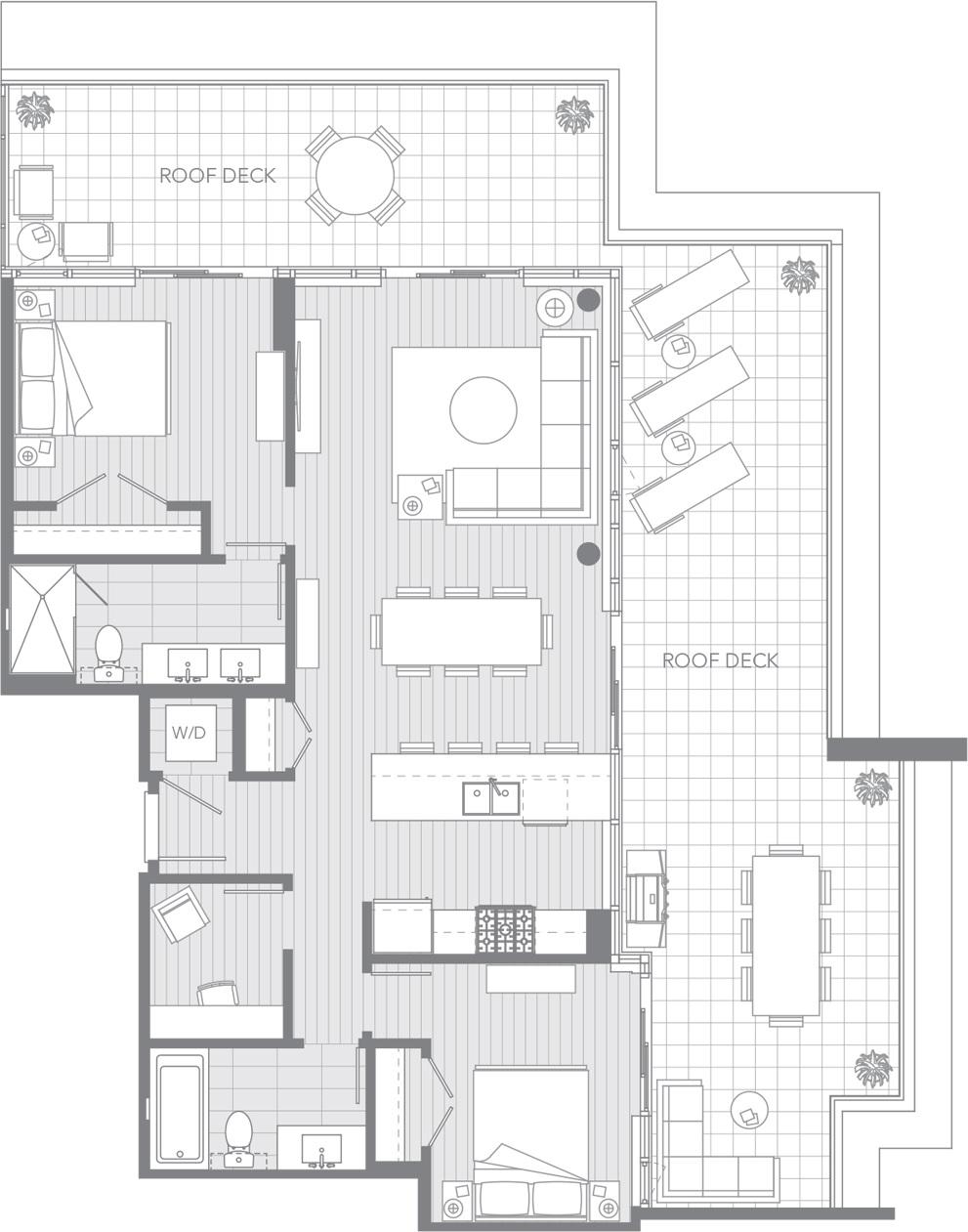 Crown Coquitlam condos penthouse suite