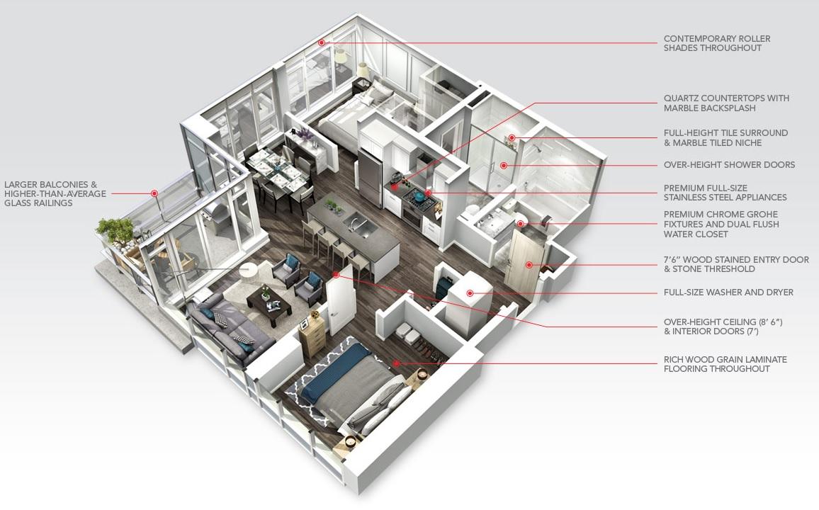 Crown condos home features