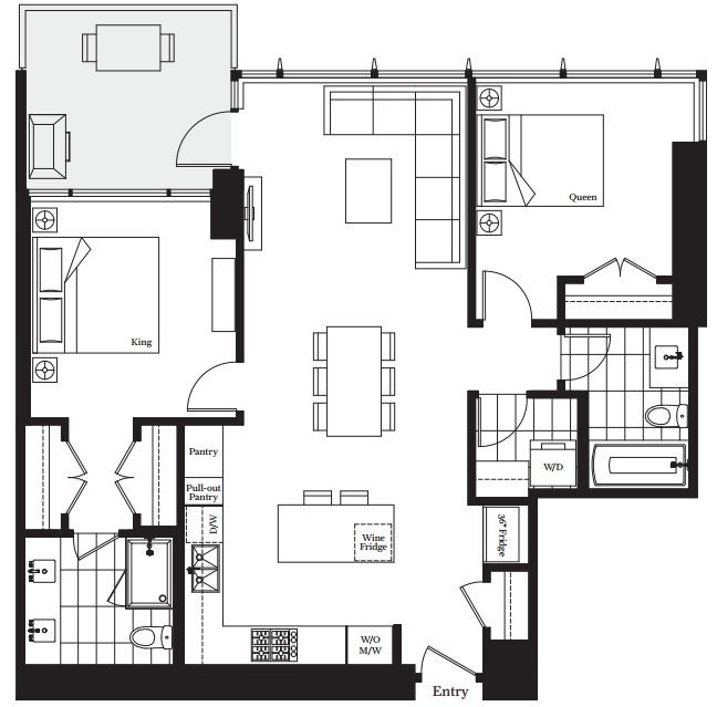 Modello condos Burnaby D plan home