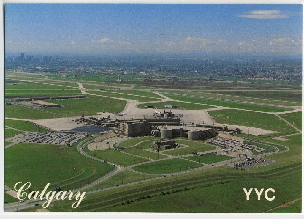 calgary international airport historic postcard
