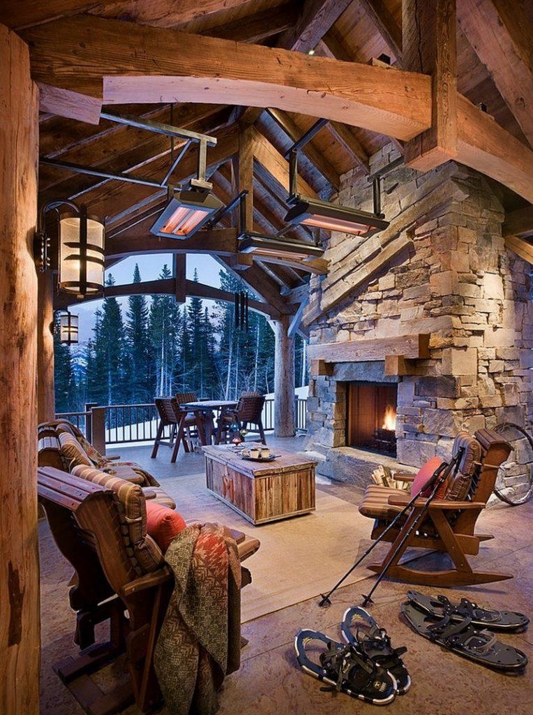 covered cozy patio