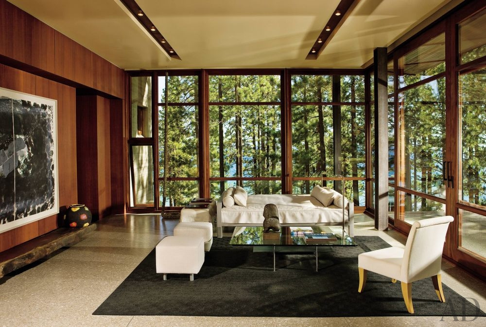 glass tree living room
