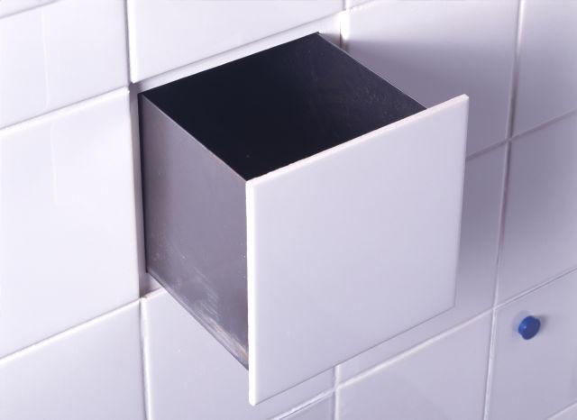 hidden bathroom tile storage