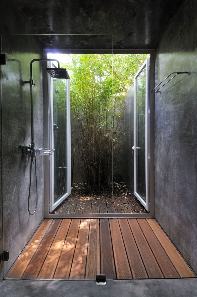 indoor-outdoor shower