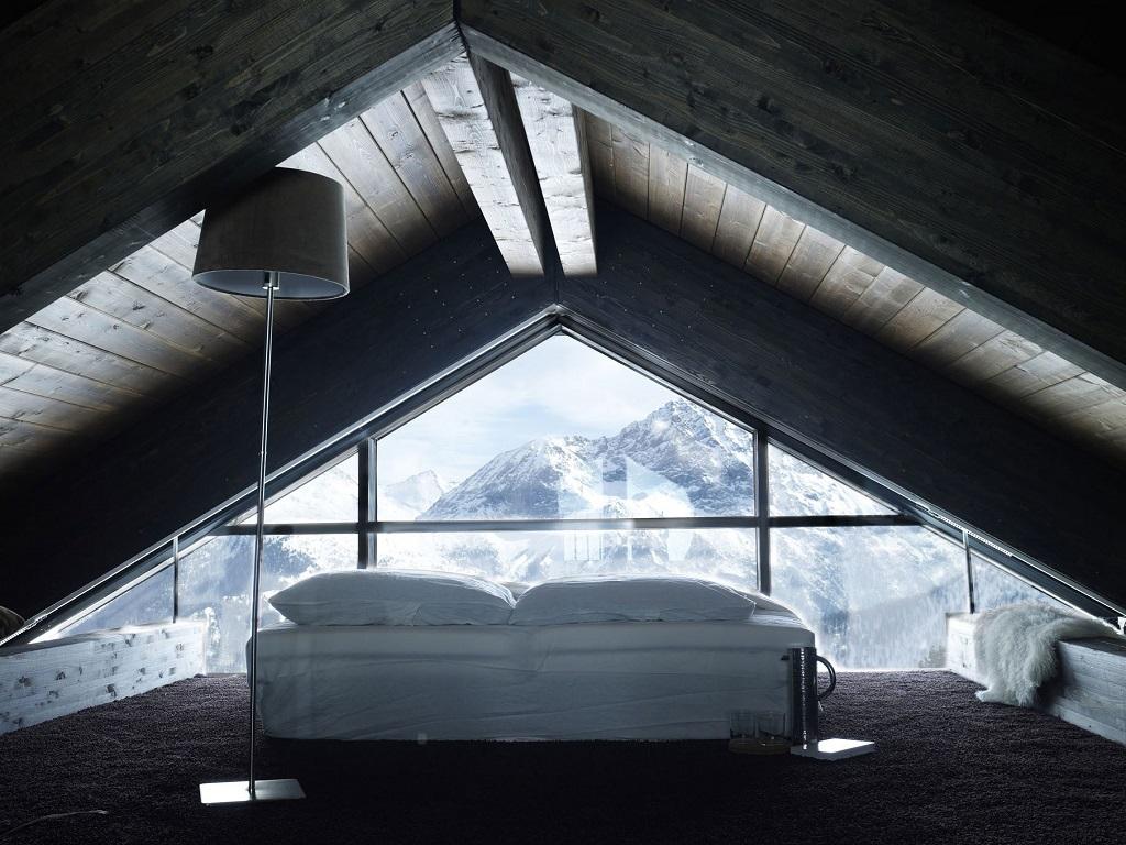 intimate loft bedroom