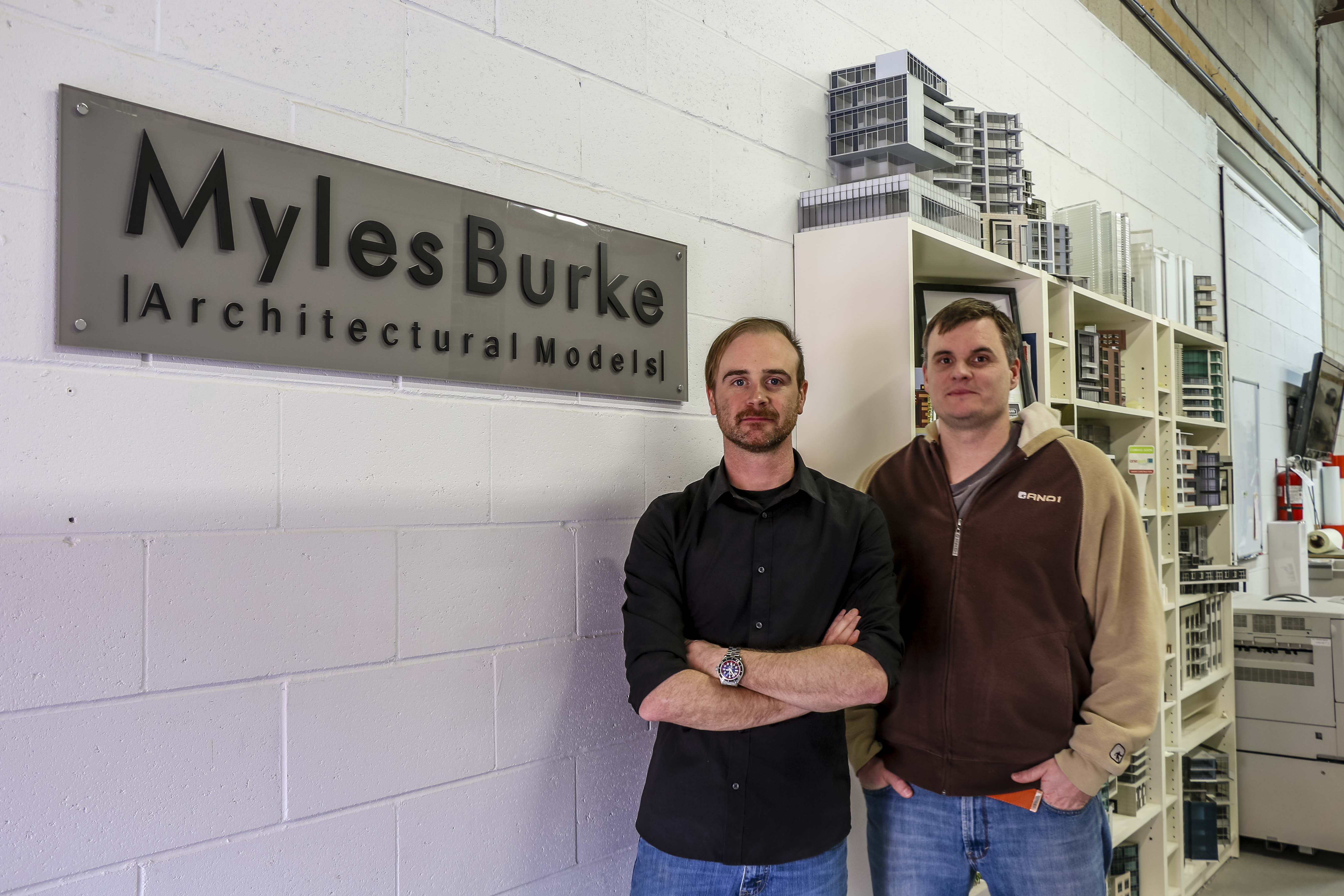 watch a tour through the studio of myles burke architectural models