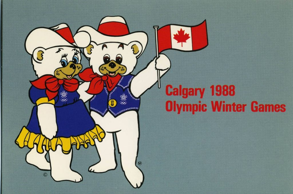 postcard Calgary Winter Olympic Mascot-1