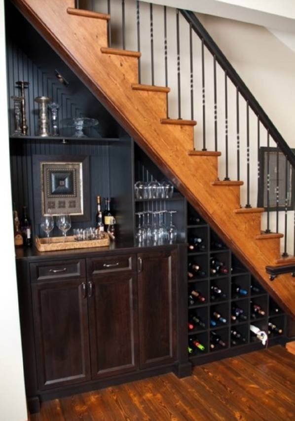 wine rack staircase