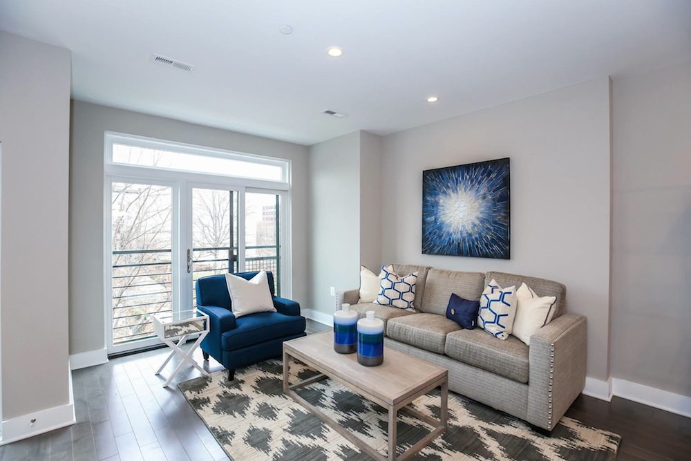 Lionshead living room blue