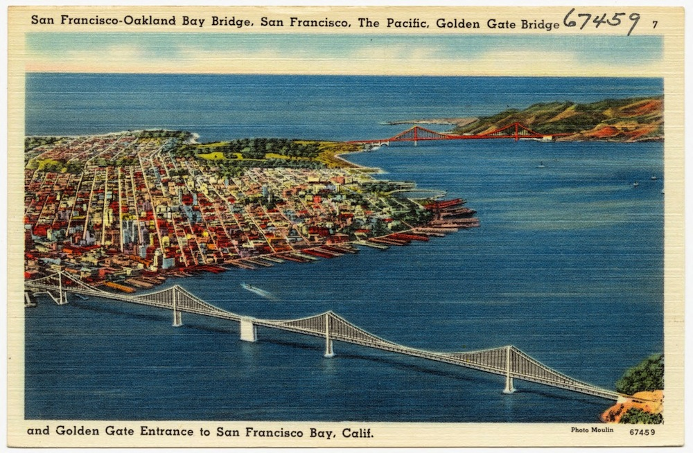 Bay Bridge and Golden Gate Bridge