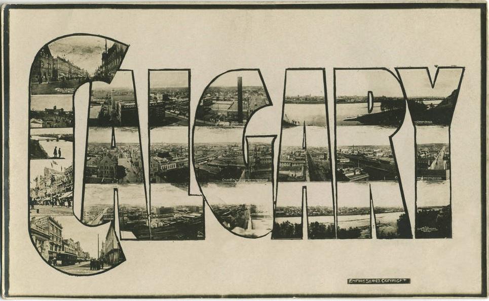 Calgary historic postcard