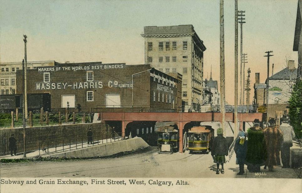 Calgary history 1st Street W