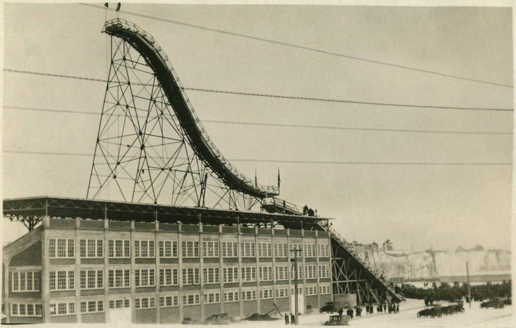 Calgary ski jump historic postcard