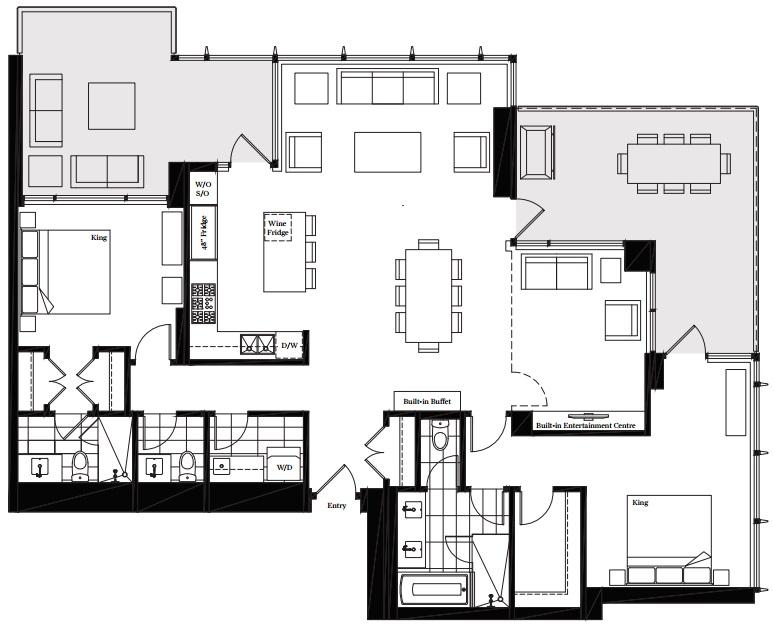 Modello Burnaby penthouse 1