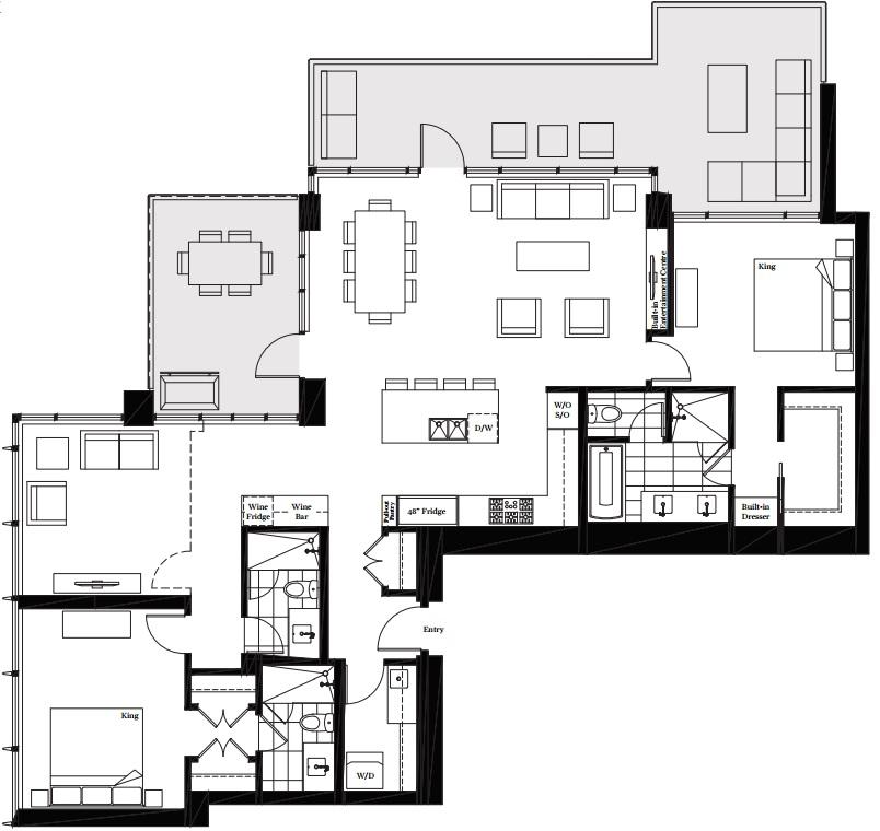 Modello Burnaby penthouse 2
