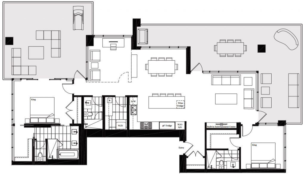 Modello Burnaby penthouse 3