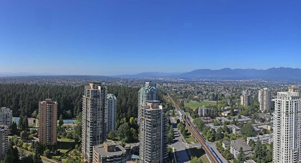 Modello Burnaby penthouse view