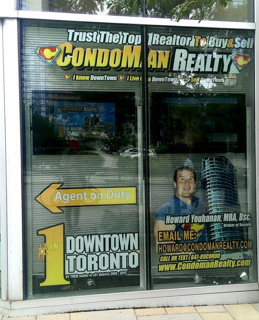 condom man real estate ad