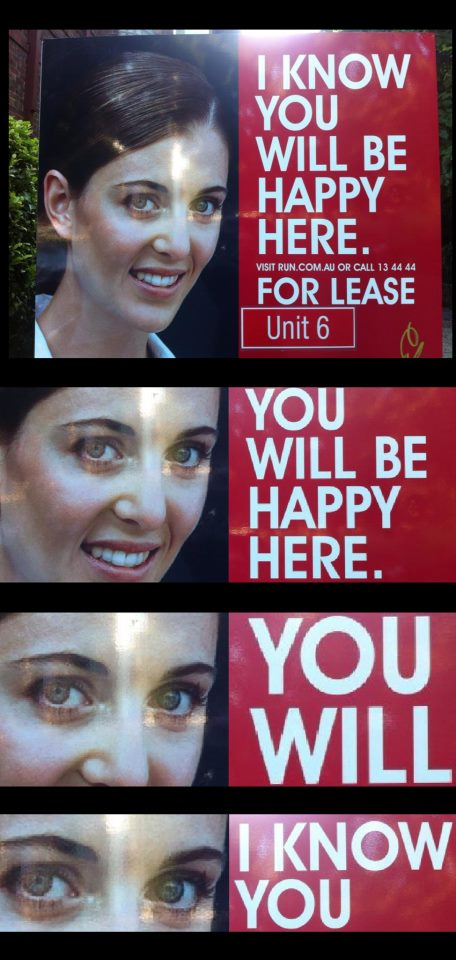 creepy real estate sign