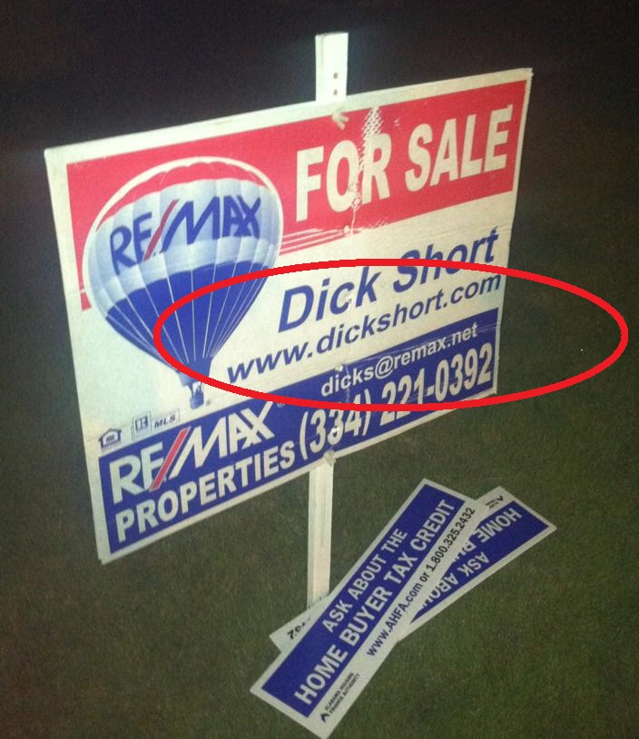 funny realtor sign