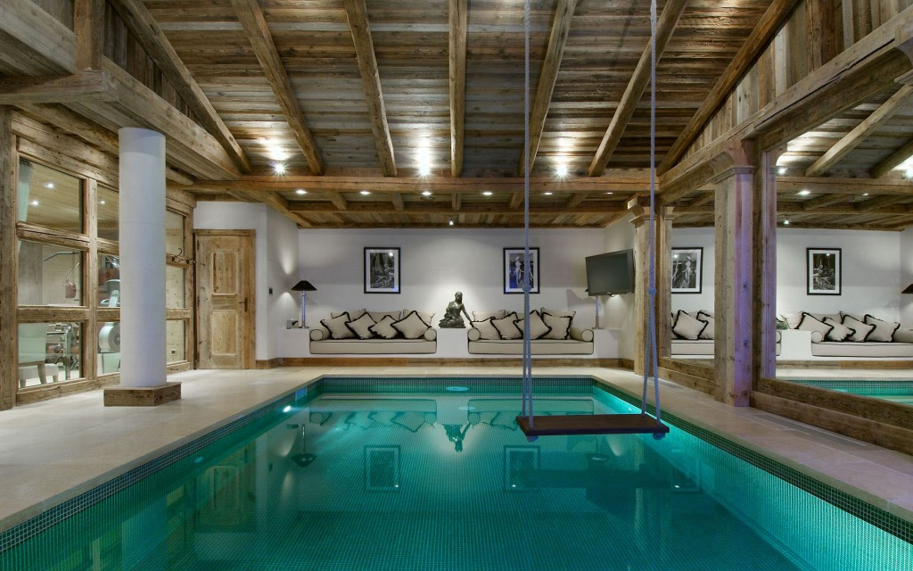 indoor pool and swing - dream home