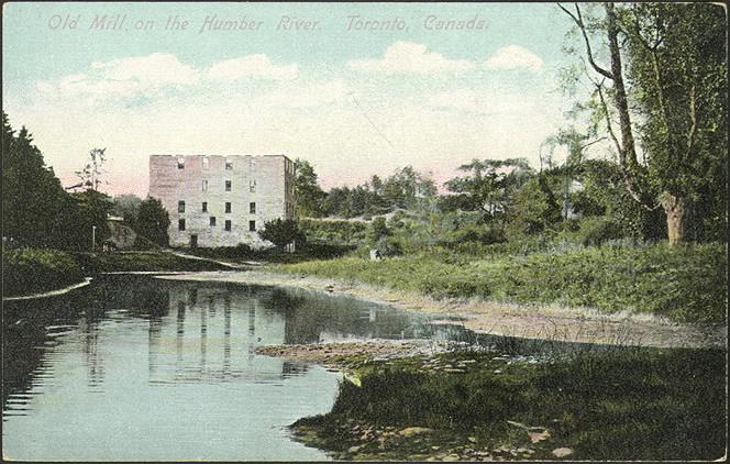 old mill toronto postcard