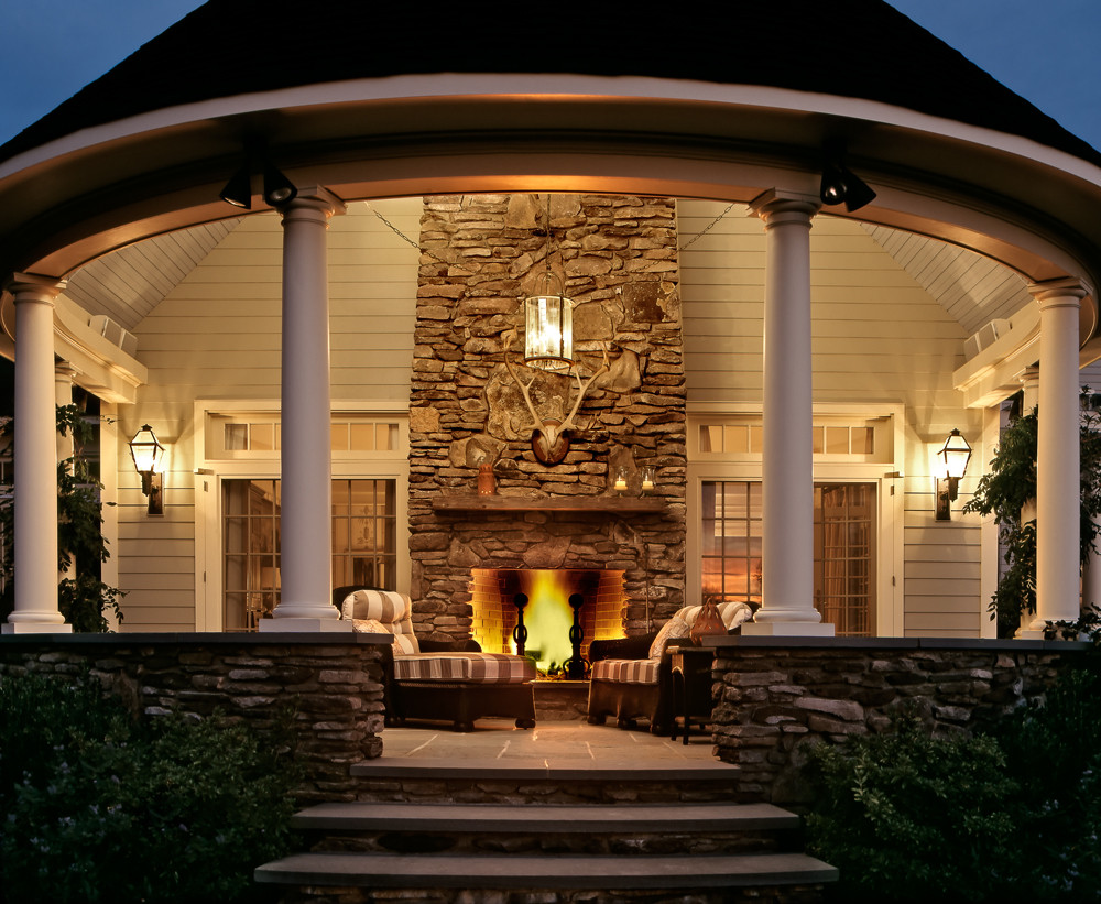 outdoor fireplace - dream home