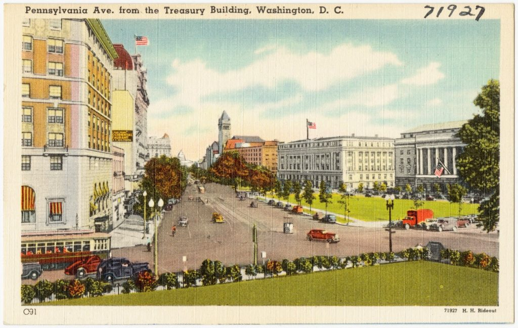 pennsylvania ave postcard