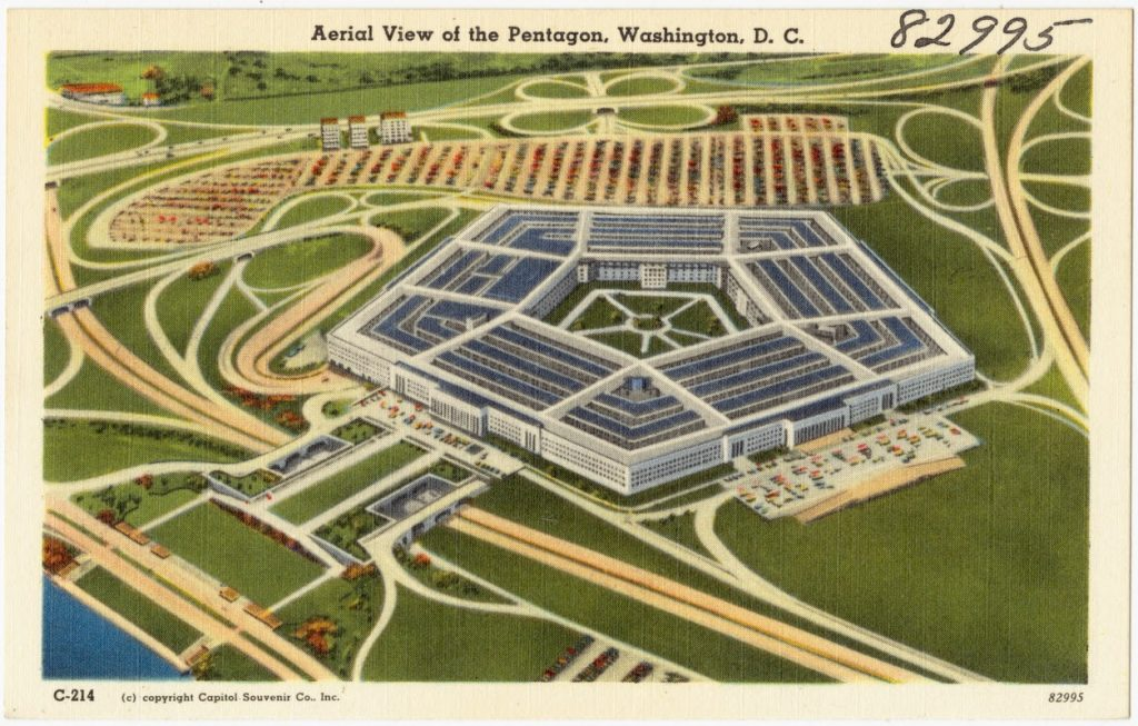 the pentagon postcard