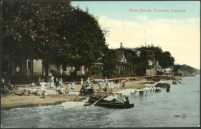 toronto beach postcard