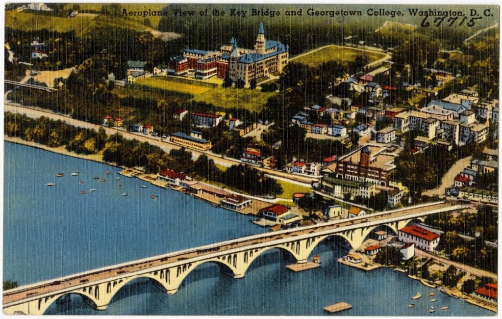 washington bridge postcard