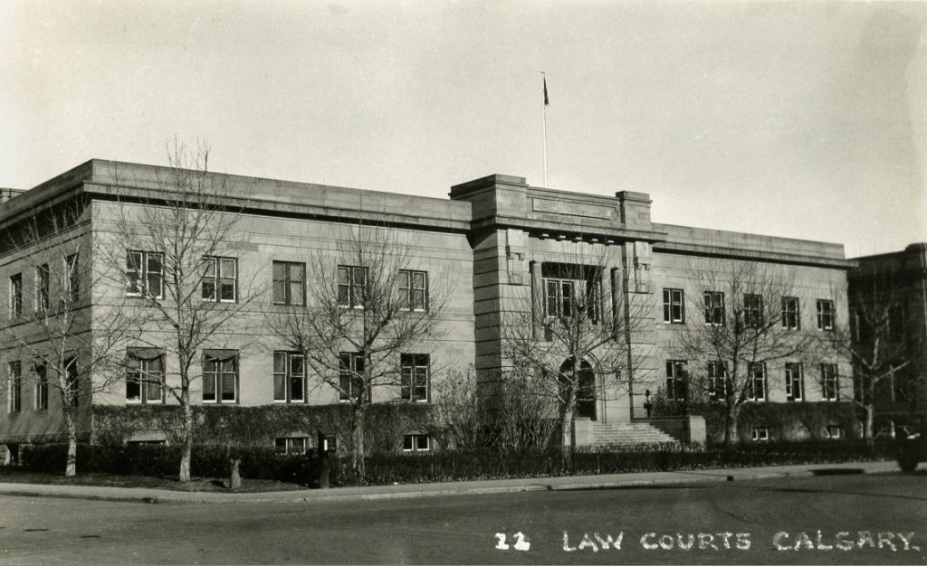 Calgary law courts historic