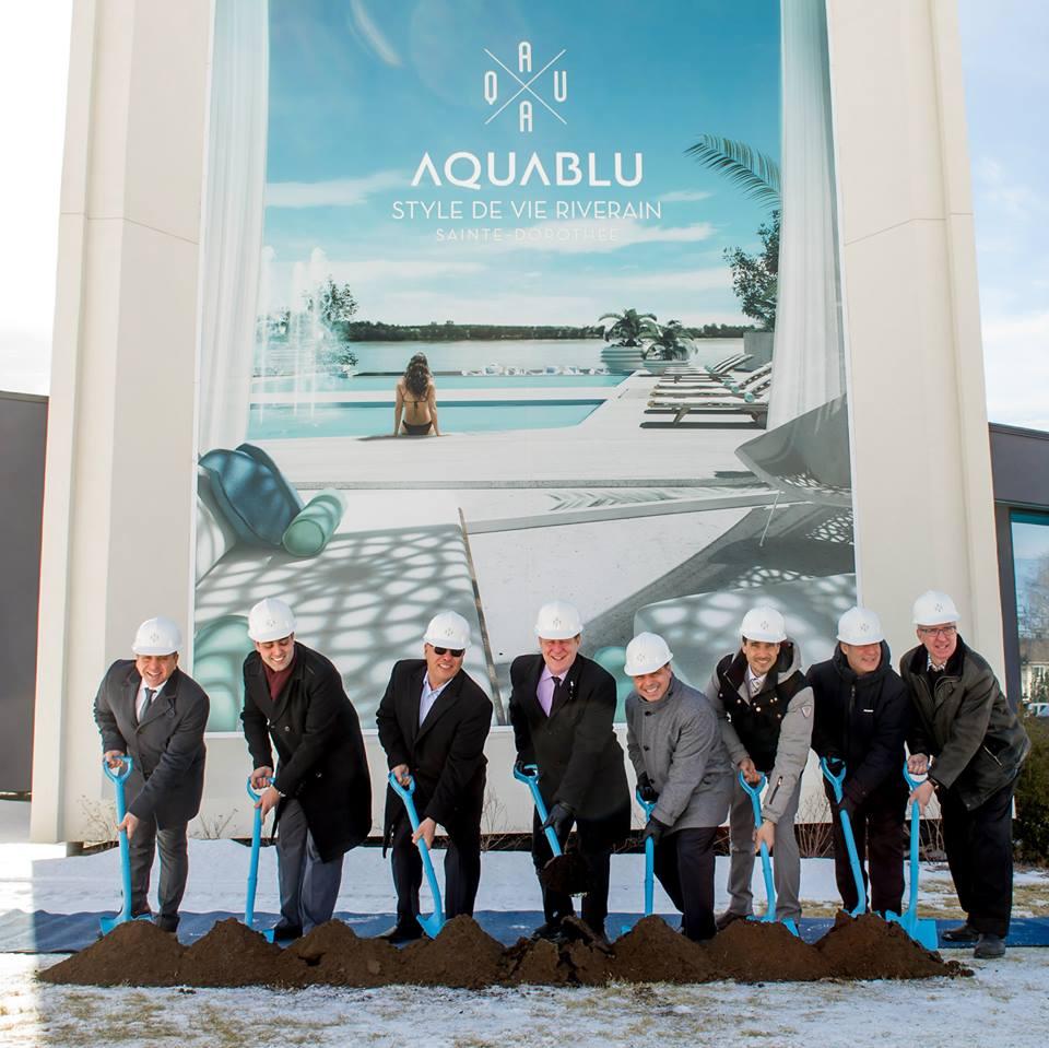 Condos Aquablu Ground Breaking