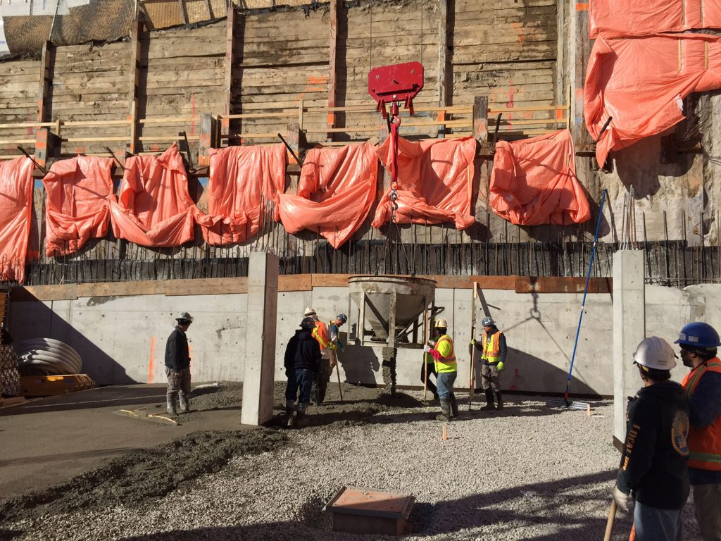 The Code Condos - Pour of slab on grade (3) - March 12, 2015