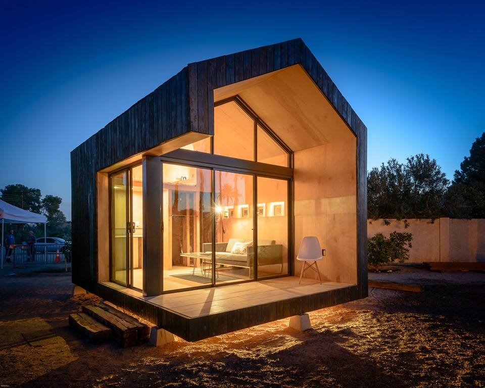 glass home tiny house