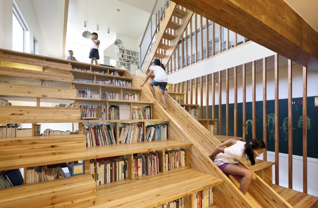 library stairs slide