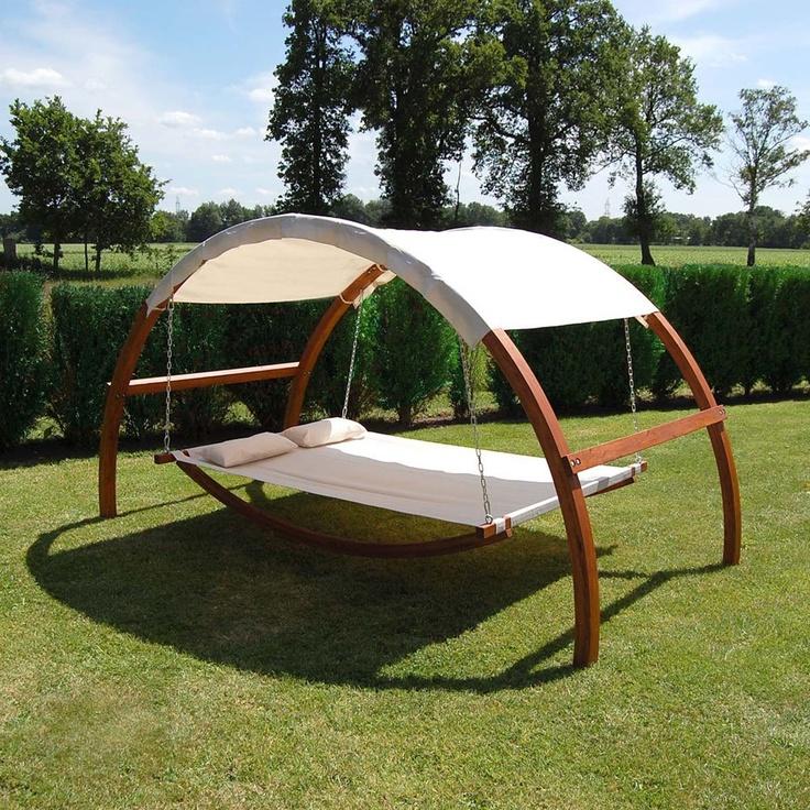 swing hammock bed backyard