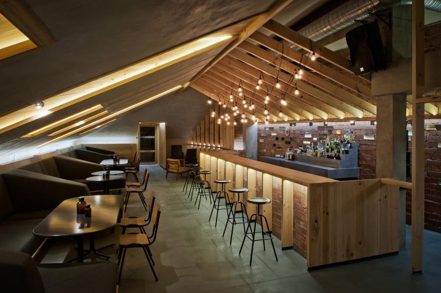 Attic home bar
