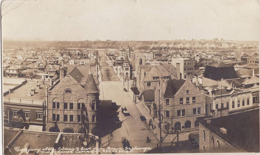 Calgary historic bird's eye view