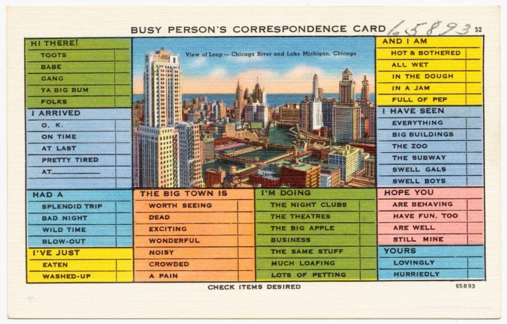 chicago vintage postcard
