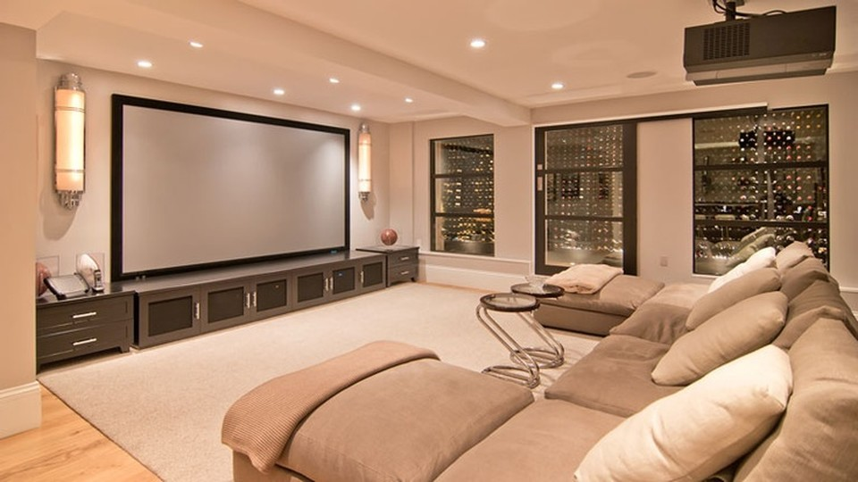 home theater wine cellar