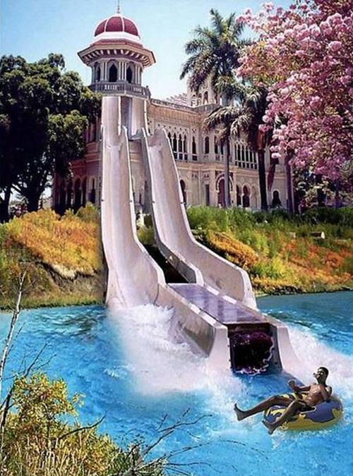 home water slide