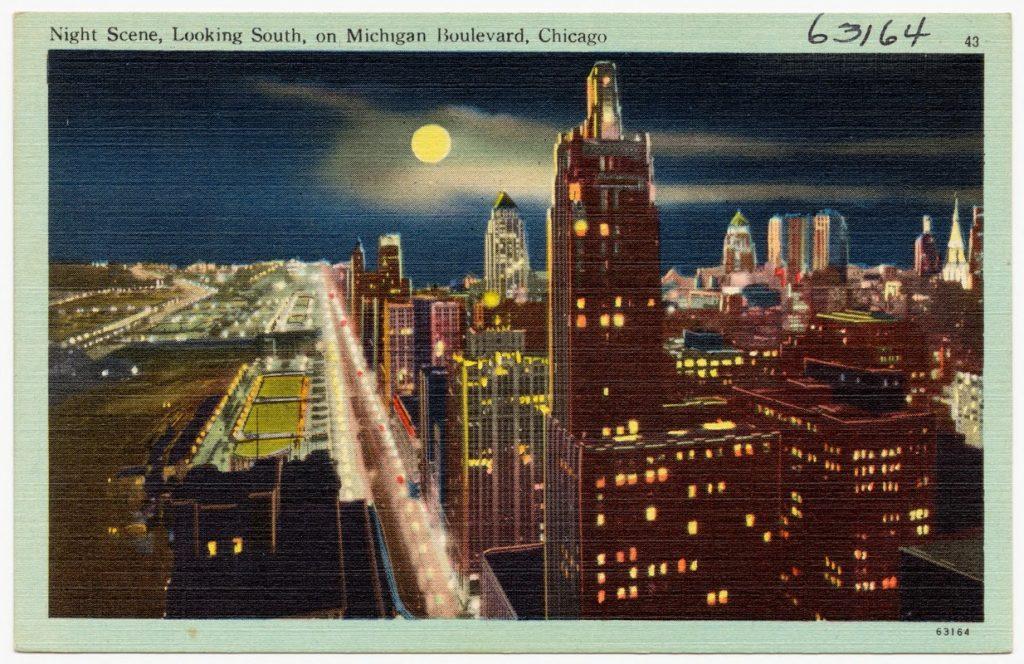 vintage postcard chicago