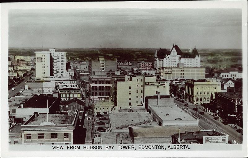 Edmonton history aerial photo